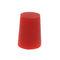 Stopfen für Rohrenden / konisch / Gewinde / aus silikonhaltigem Gummi