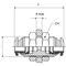 Schottanschluss / Push-in / gerade / Druckluft