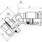 Technopolymer-Anschluss / Push-in / 45°-Winkel / Druckluft