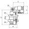 Schottanschluss / Push-in / Winkel / hydraulisch