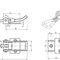 horizontaler Schnellspanner / Schubstangen / Gegenhalter / Stahl