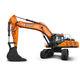 großformatiger Bagger / auf Raupen / Diesel / für Baustellen