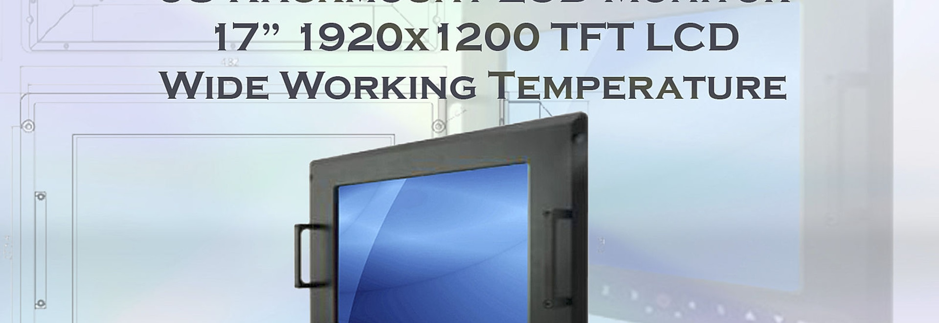"17 ""Rugged Rackmount LCD monitor heeft Military Grade Standards"
