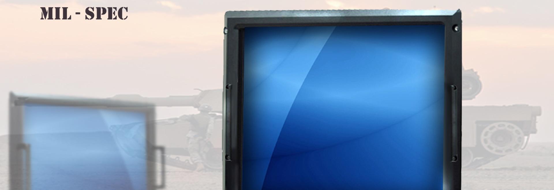 Acnodes Rackmount Monitor des 9U-Hoch-20,1 Zoll-MIL-SPEC