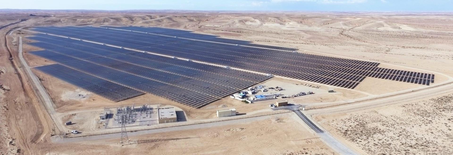 """Anlage """"Ashalim """"30 MW PV in Israel, errichtet durch Belectric"""