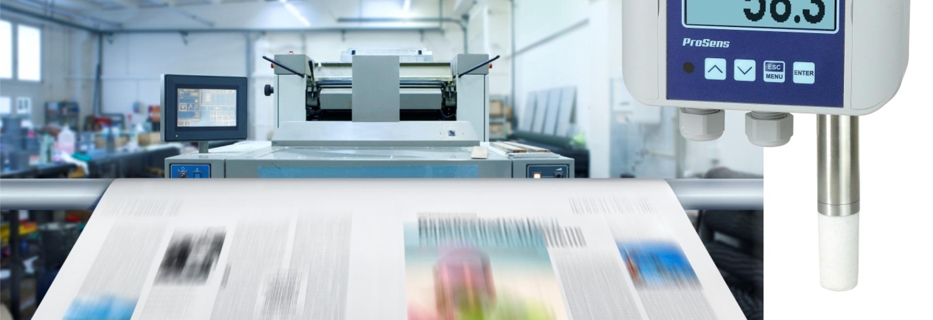 Anwendung #10: Überwachung von Temperatur und Luftfeuchtigkeit mit ProSens in der Druckerei