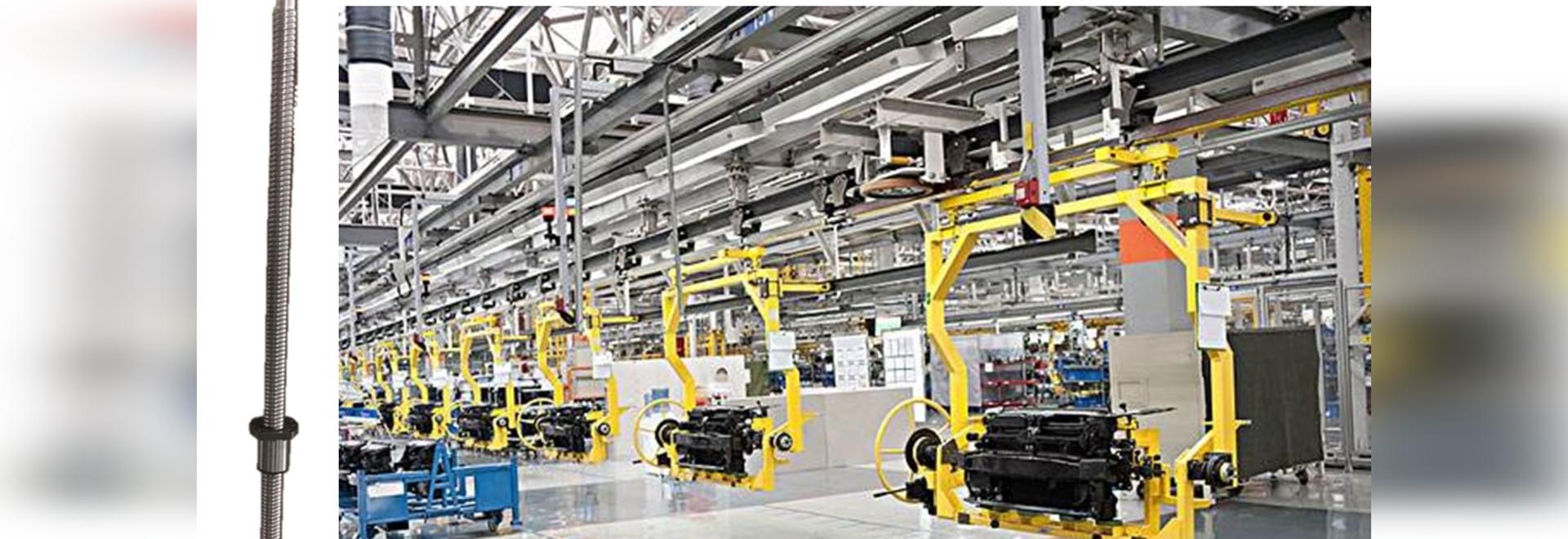Anwendung von NOSEN-Spindelhubelementen in der Automobilproduktion