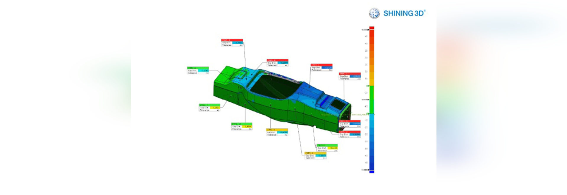 Bestimmung der Genauigkeit des DHBW-Monocoques mit FreeScan X5