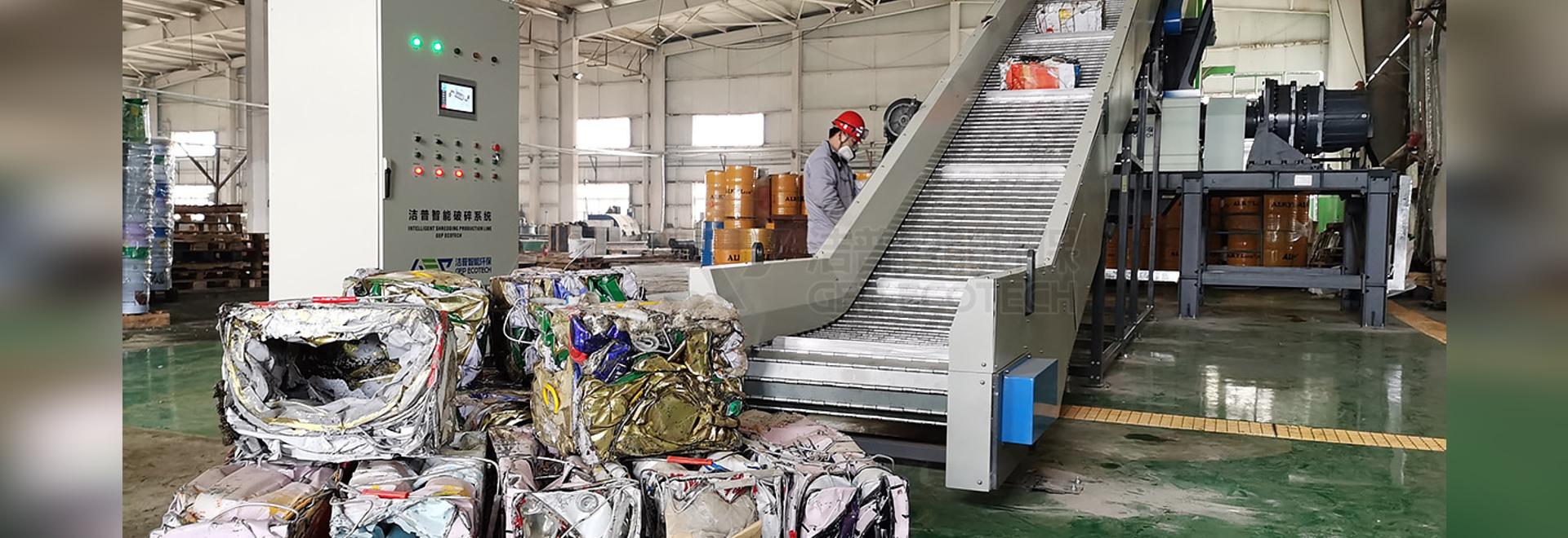 Doppelwellenzerkleinerer Kapazität 20 Tonne in Malaysia