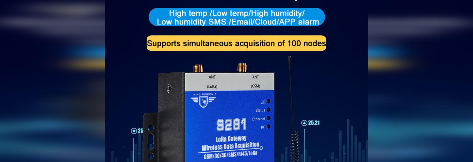 drahtloses Temperatur-/Feuchtigkeits-Fernüberwachungsalarmsystem