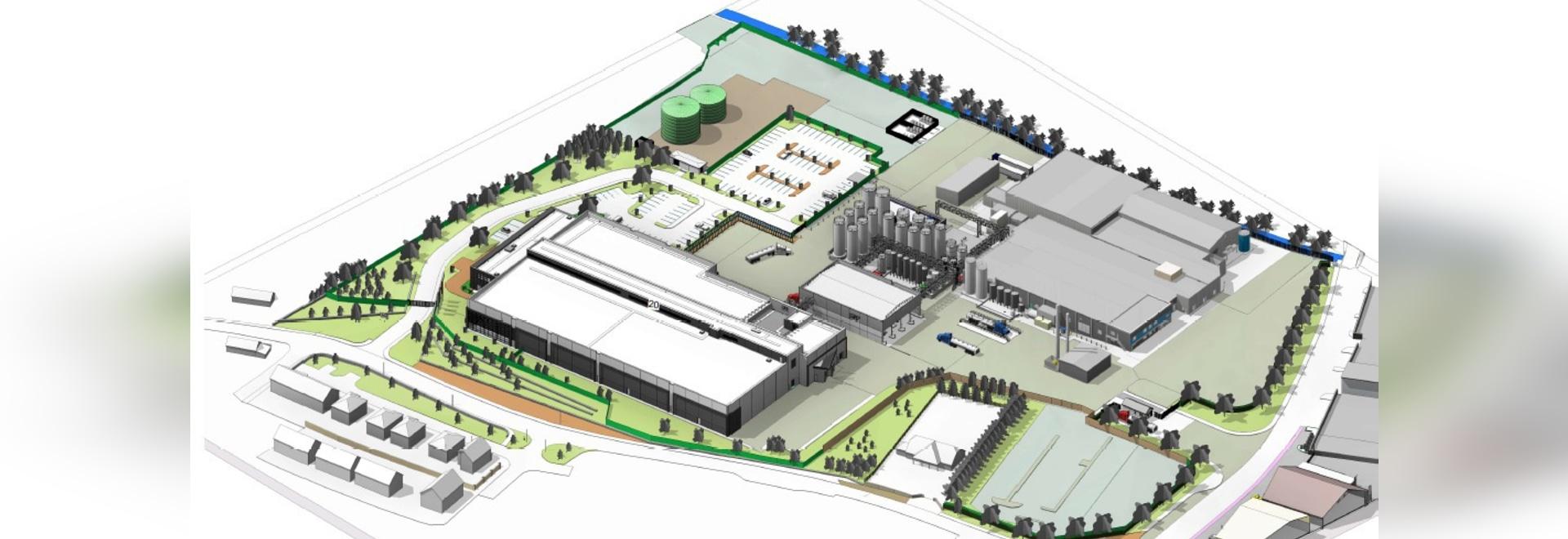 Das Jarlsberg-Käseproduktions-Anlage der ZINKE, Grafschafts-Korken, Irland