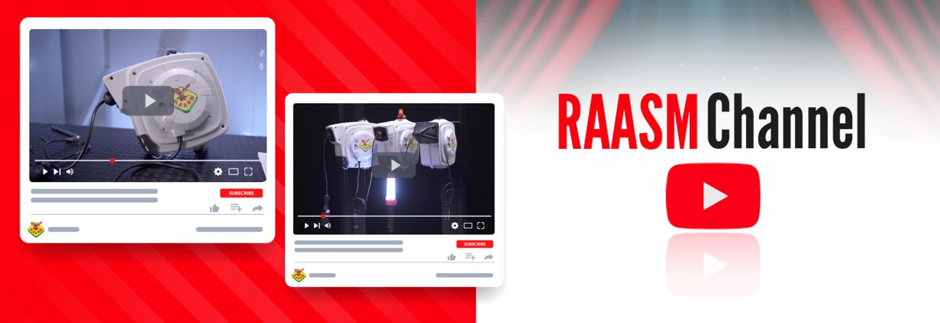 NEUE VIDEOS FÜR DIE ELEKTRISCHEN KABELAUFROLLER VON RAASM