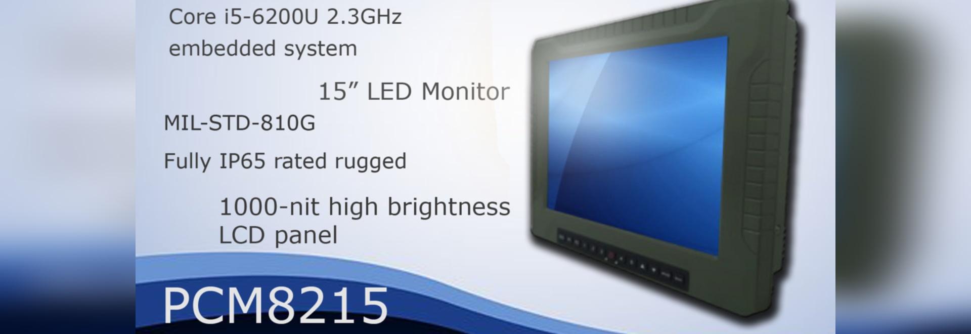 PCM8215: Militärgrad 15 Zoll Platte PC trieb durch 6. Generations-Kern i5-6200U 2.3GHz CPU an
