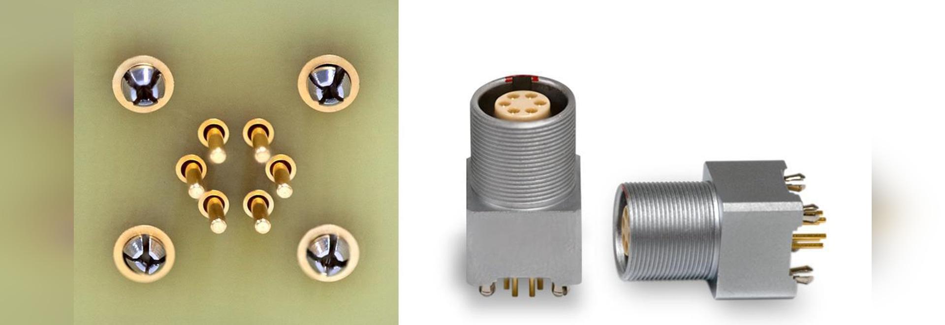Press-Fit-Kontakte für gekrümmte und gerade PCB-Buchsen