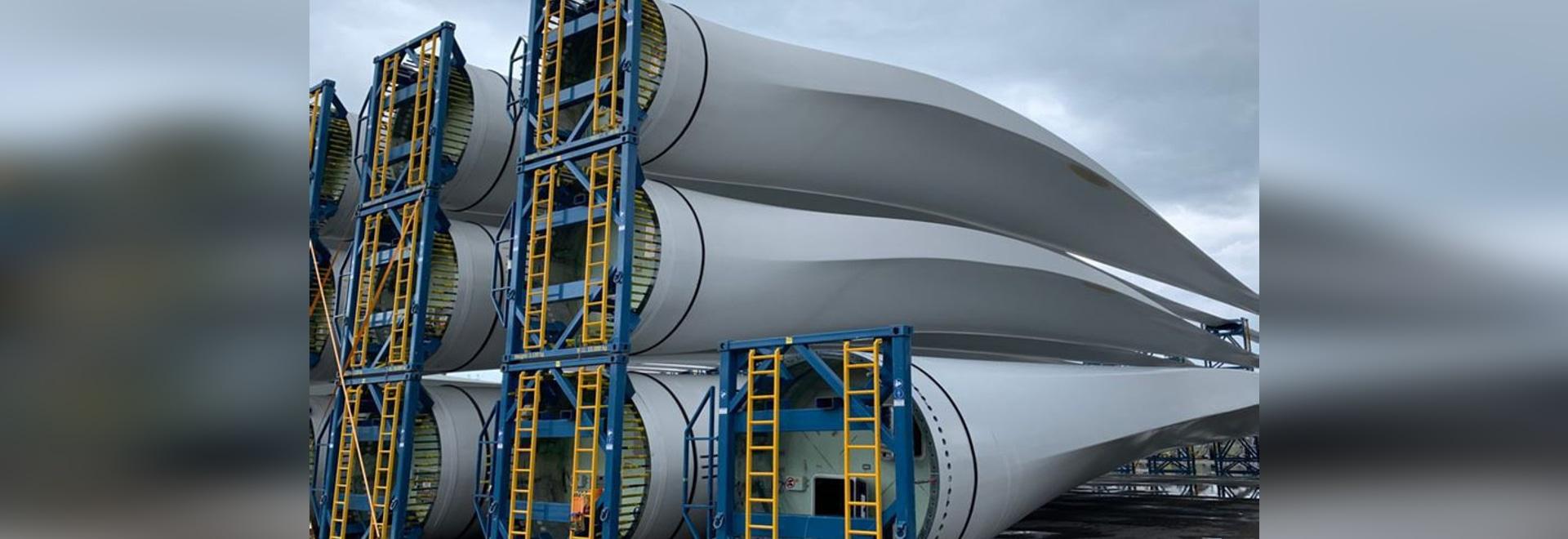 Recycelte Verbundwerkstoffe aus Windturbinenblättern, die für die Zementverarbeitung verwendet werden