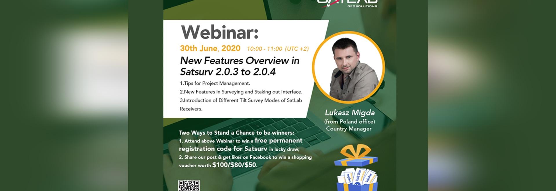【SatLab Webinar】 Übersicht über neue Funktionen in Satsurv 2.0.3 bis 2.0.4