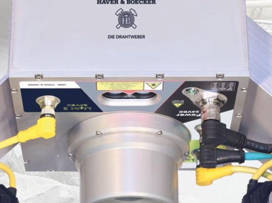 HAVER INLINE System zur direkten Materialanalyse auf dem Förderband.