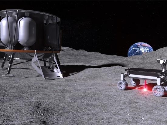 Laser zum Schmelzen von Mondstaub für die additive Fertigung im Weltraum