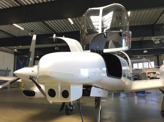 Zwei-Kamera-Visionssystem, das entwickelt wurde, um automatische Landungen auf kleinen Flugplätzen zu ermöglichen