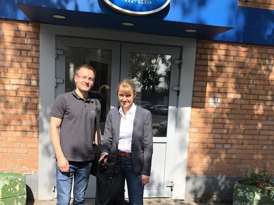 Alexandra Woloschin und Stanislav Biryukov von UWT