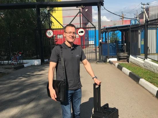 Stanislav Biryukov zu Besuch bei Kunden