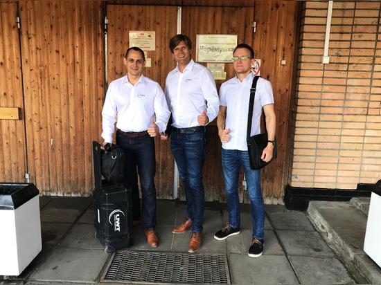 Stanislaviryukov, Andrey Kireev und Markus Schalk auf Tour durch Moskau