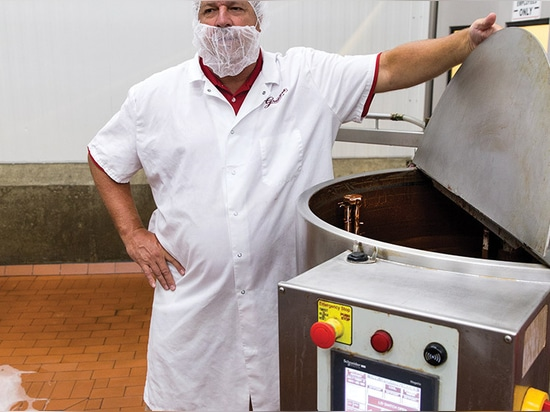 Die Eiscremefabrik von Graeter unterscheidet sich durch ihr Design