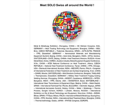 Treffen Sie SOLO Swiss weltweit!