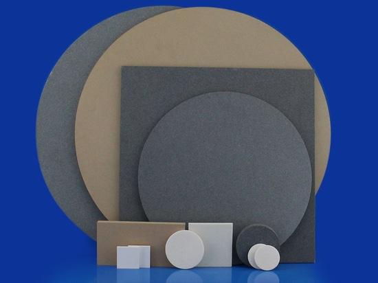 Poröse Keramikscheiben und -platten aus Aluminiumoxid und Siliziumkarbid