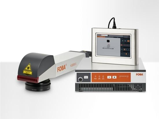 Das FOBA Y.0200-S Markiersystem kann über einen nach IP65-Standard geschützten 10.1-Zoll Farb-Touchscreen gesteuert werden. (Bildrechte: FOBA)