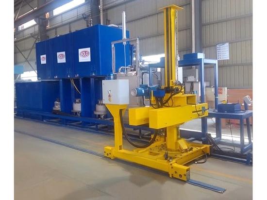 Lieferung einer SOLO Swiss Typ Profitherm P150 Wärmebehandlungslinie für die Luftfahrtindustrie in der chinesischen Provinz Jiangsu. Behandlungen: Abschrecken- Aufkohlen - Karbonitrieren - Anlassen.