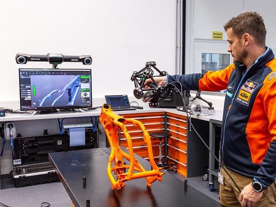 3D-Scan eines Motorradrahmens