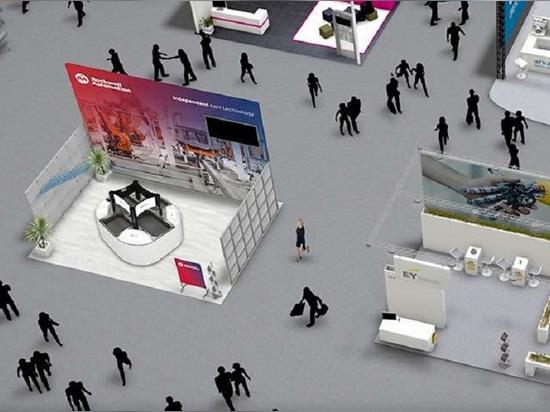 """Über eine virtuelle Plattform können die Teilnehmer Lernprogramme verfolgen, sich unter Gleichgesinnten und mit Experten vernetzen und durch den digitalen Ausstellungsraum """"spazieren""""."""