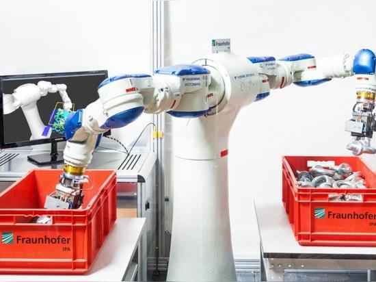 Roboter, die Objekte aufnehmen