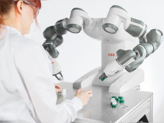 YuMi, der kollaborative Roboter von ABB, wurde 2015 offiziell eingeführt