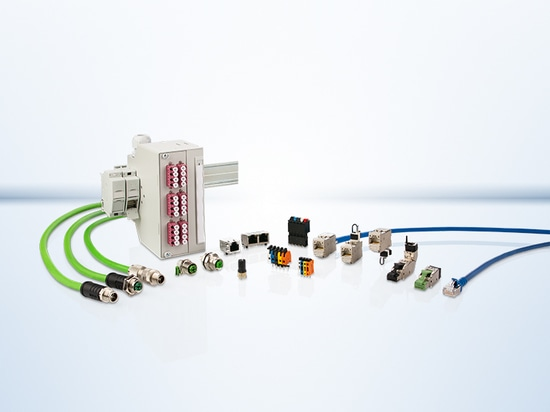 Connection technology for devices, control cabinets and systems