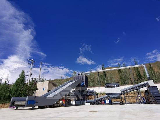 China Lhasa Produktionslinie für die Sperrmüllentsorgung