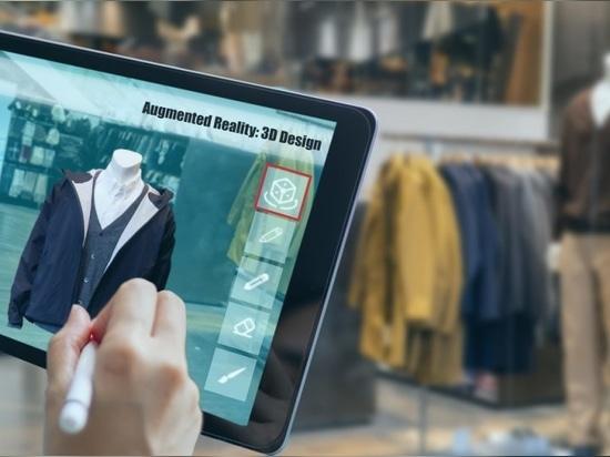 Erweiterte gemischte virtuelle Realität zum Entwerfen von Kleidung in einem 3D-Modedesign-Softwareprogramm