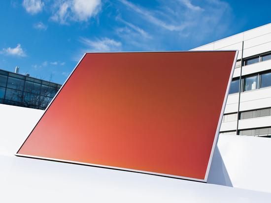 Photovoltaik-Module, die durch eine von Schmetterlingsflügeln inspirierte Technologie in einem Spektrum von Einzelfarben hergestellt werden können, werden vom Fraunhofer Institut entwickelt
