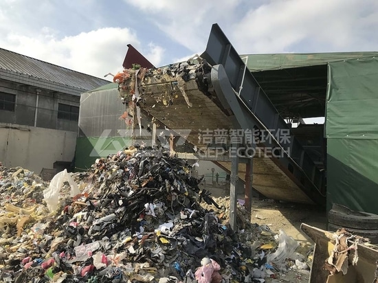 Hausmüll-Recycling, GEP ECOTECH Zerkleinerungssystem hilft