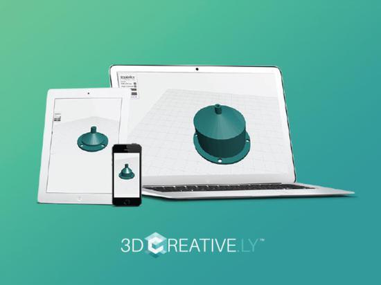 Schöpfer des Innenim garten arbeitensystems 3Dponics zum zu starten Wolke-gründeten 3D, das APP 3Dcreative.ly modelliert