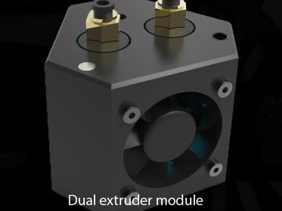 Das Krak3n kommt: ein modularer Drucker des Monsters 3D komplett mit Scannen 3D und Laser-Stich