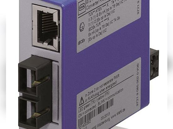 Medienkonverter für LWL-Ethernet im Ex-Bereich