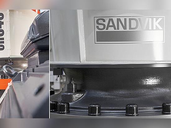Folgender Schritt der Sandvik Aufbauten im neuen Erzeugung der Kegelzerkleinerungsmaschinen