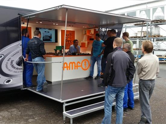 "AMF-Showmobil ""Andreas"" vor Ort beim Kunden"