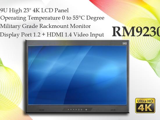 """RM9230 kennzeichnet Militärhoch 23"""" des grad-9U Platte 4K LCD"""