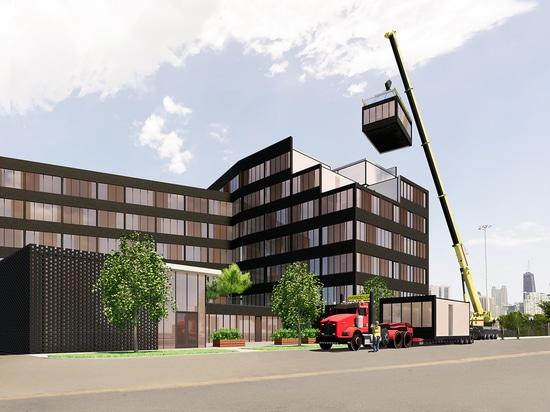 Chicago-Auftragnehmer-Plan-Verschluss--Zusammenwohnungs-Fabrik