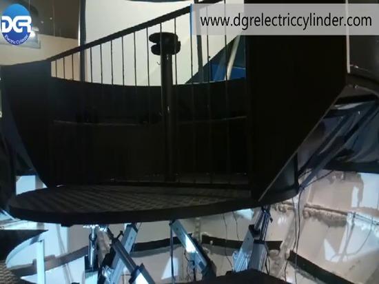Sechs Servoelektrische Zylinderanwendung von Flugsimulatoren