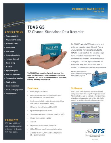 TDAS G5 32-Channel Data Recorder