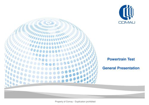 Powertrain Test General Presentation